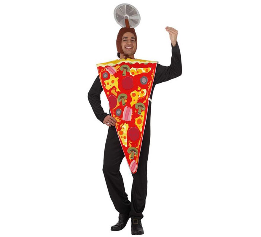 Disfraz de Porción de Pizza para hombre. Talla M-L 52/54. Incluye disfraz el Pizza.