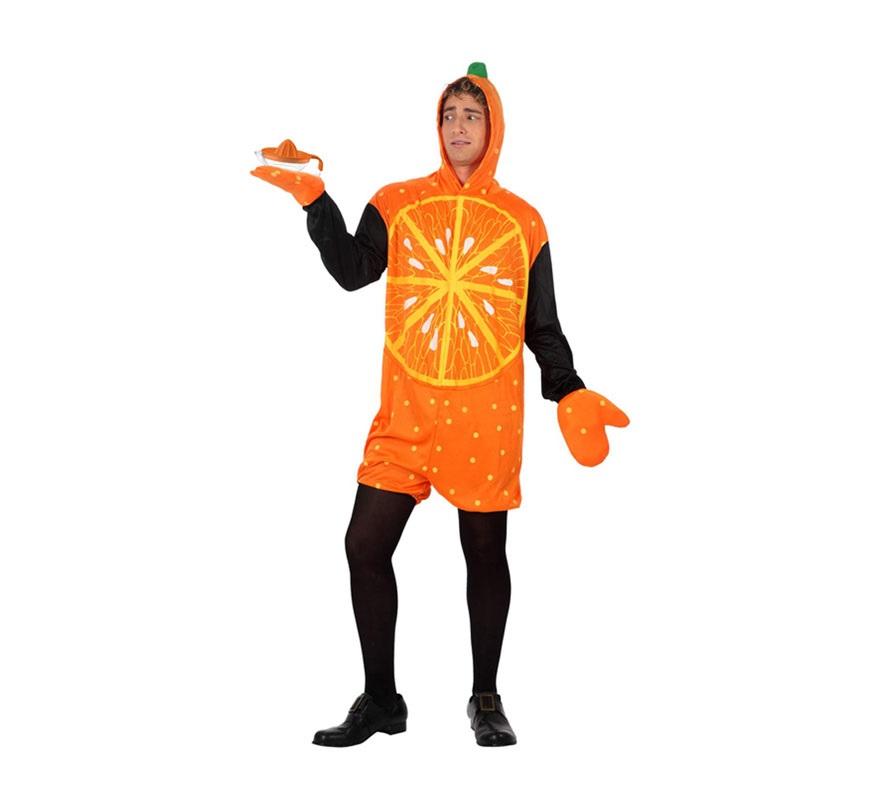Disfraz de Naranja para hombre. Talla 2 ó talla Standar M-L 52/54. Incluye disfraz y guantes.