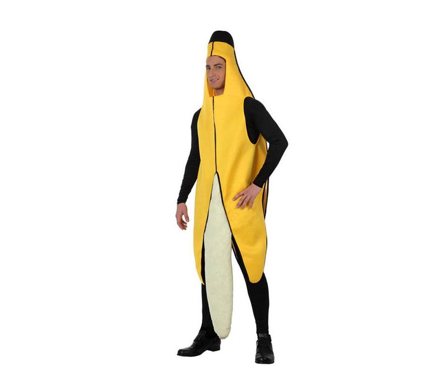 Disfraz de Plátano para hombre. Talla 2 ó talla Standar M-L 52/54. Incluye disfraz de Plátano.