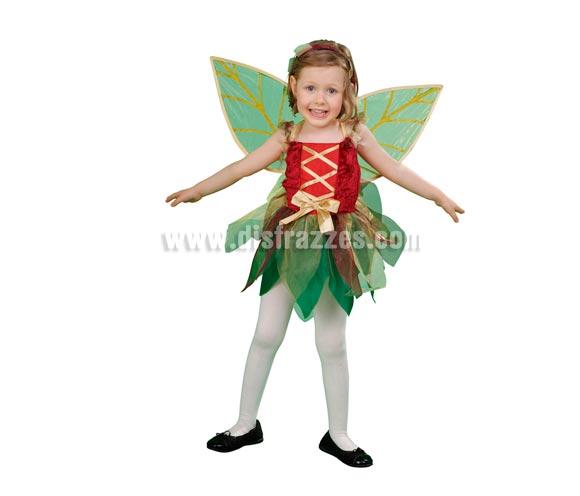 Disfraz de Hada del bosque infantil para Carnaval y para Navidad barato. Talla de 3 a 4 años. Incluye vestido, alas y diadema. Disfraz de Ninfa del bosque para niñas. Éste disfraz de Navidad es ideal para la época Navideña en la que los niños hacen teatros de Belenes e interpretan canciones tradicionales en los Colegios y se comienzan a preparar las Fiestas en las que Reina la Paz y la Unidad. Disfrazándote con un disfraz para Navidad, o disfrazando a tus hijos con disfraces de Navidad, ayudas a crear ese ambiente mágico en el que los peques se sienten protagonistas y sienten el auténtico Espíritu Navideño que entre todos debemos crear. ¡¡Compra tu disfraz para Navidad en nuestra tienda de disfraces, será divertido!!