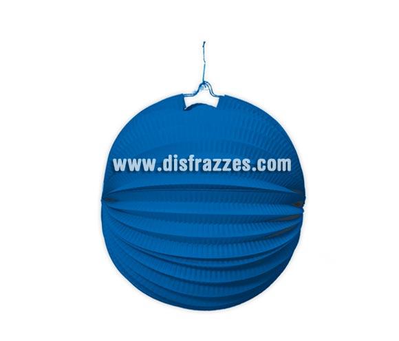Farol de papel Azul de 20 cm. Perfecto para decorar tus Fiestas.