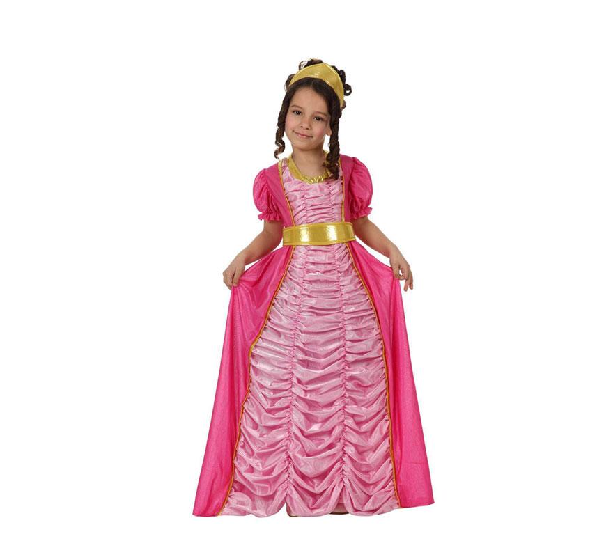 Disfraz de Princesa Lujo rosa para niñas de 5 a 6 años Incluye disfraz completo. Perfecto para regalar.