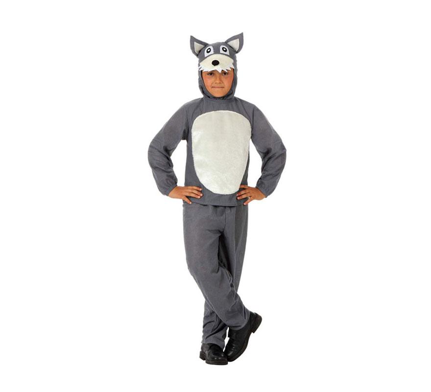 Disfraz de Lobo Feroz para niños de 3 a 4 años. Incluye difraz de Lobo completo.