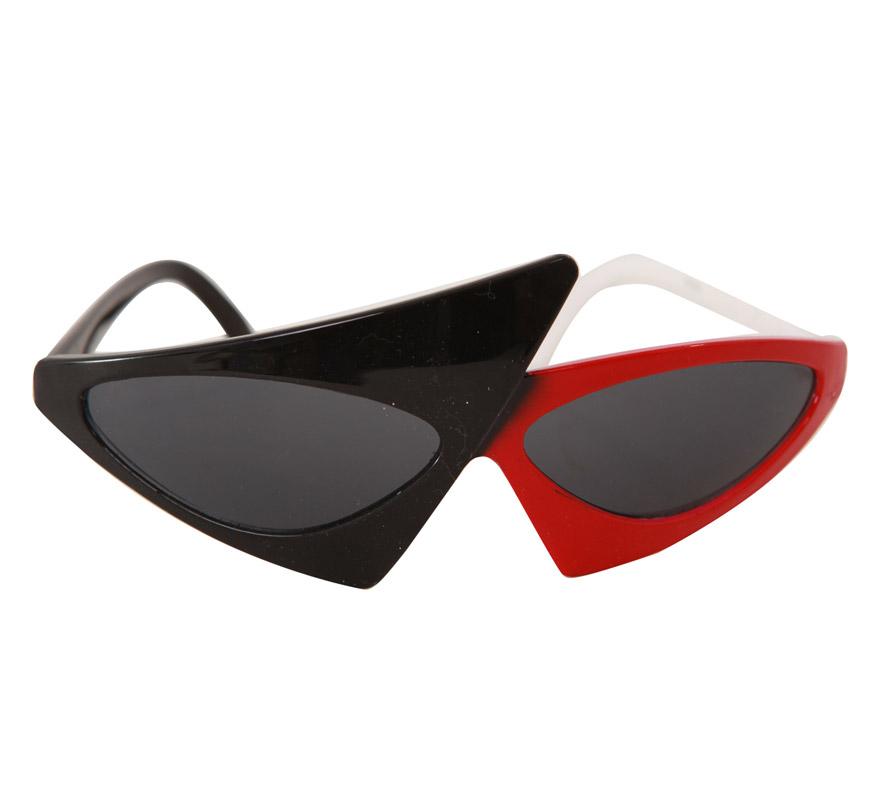Gafas Fashion rojas y negras. Con éstas gafas podrías imitar a la Fantástica Lady Gaga.