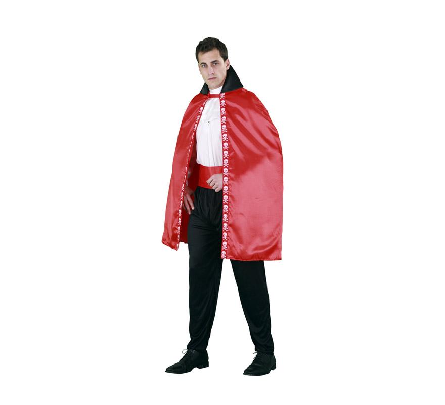 Capa Vampiro roja adultos para Halloween. Talla Universal. Incluye la capa roja.