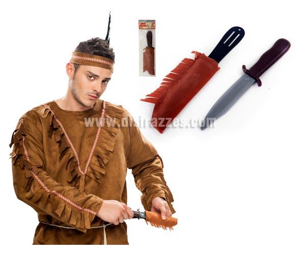 Cuchillo Indio de PVC con funda para Carnavales.