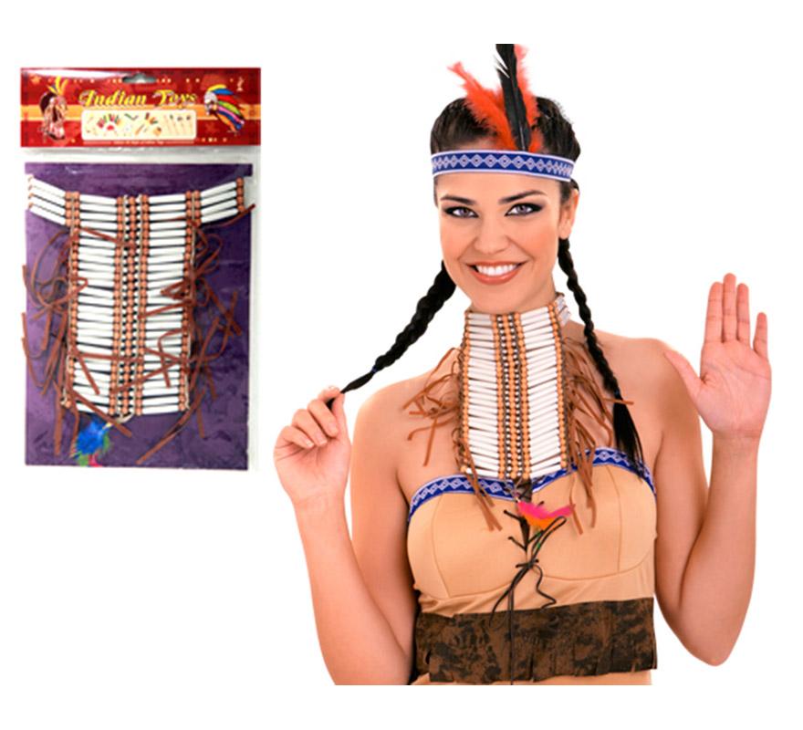 Gargantilla India Guerrera. Ideal para tu disfraz de Indio.