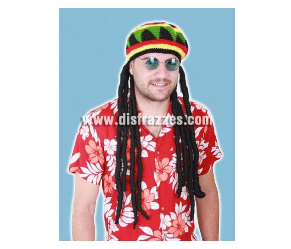 Peluca Rastafari con gorro Jamaicano 80 cm.