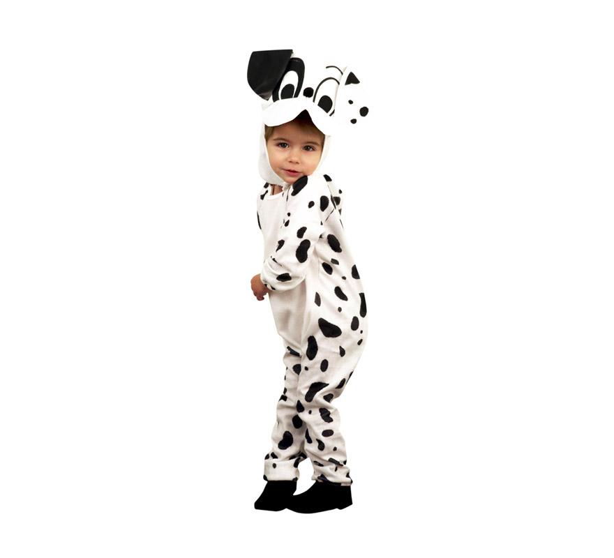 Disfraz de Dálmata para niños de 5 a 6 años. Incluye traje y gorro.