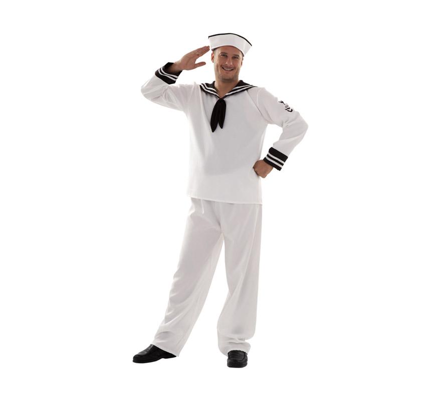 Disfraz barato de Marinero adulto para Carnaval. Talla XL = 54/58. Incluye gorra, camisa y pantalón. ¡¡Compra tu disfraz para Carnaval en nuestra tienda de disfraces, será divertido!!