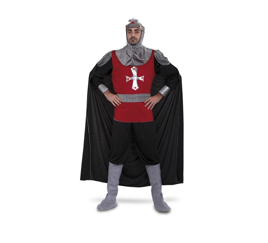 Disfraz de Soldado Medieval para hombre. Talla S = 48/52 ideal para adolescentes y para chicos delgados. Incluye camisa, pantalón, cinturón, verdugo y cubrebotas. Traje de Caballero Medieval de hombre para Ferias Medievales.