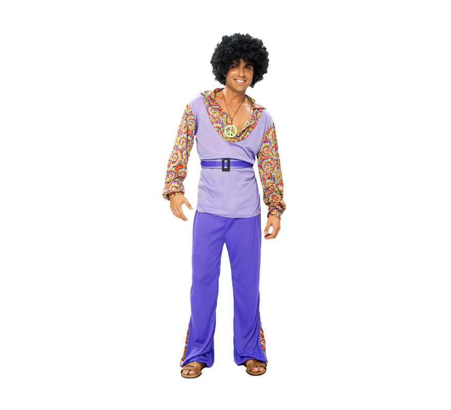Disfraz barato de Hippie para chicos talla S