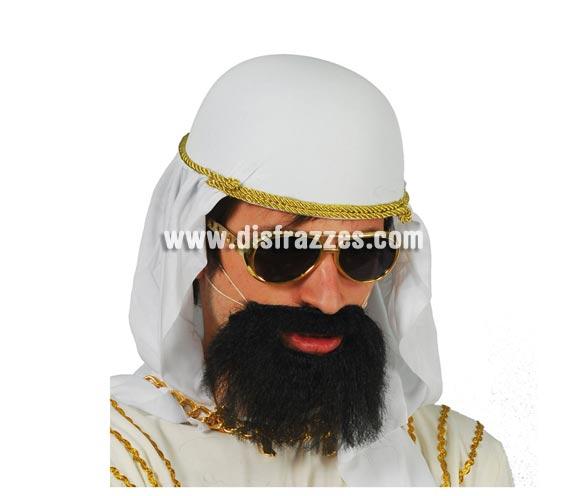 Barba negra mediana. Perfecta para el disfraz de Árabe, Pirata y de El Capitán Haddock, el amigo de Tintín.