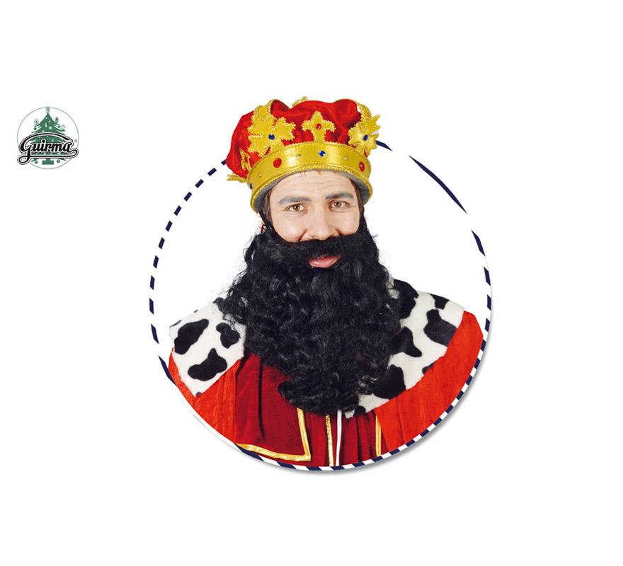 Barba grande de Rey negra. También sirve como Barba de Brujo para Halloween y como barba de Troglodita o Cavernícola. El precio sólo incluye la barba.
