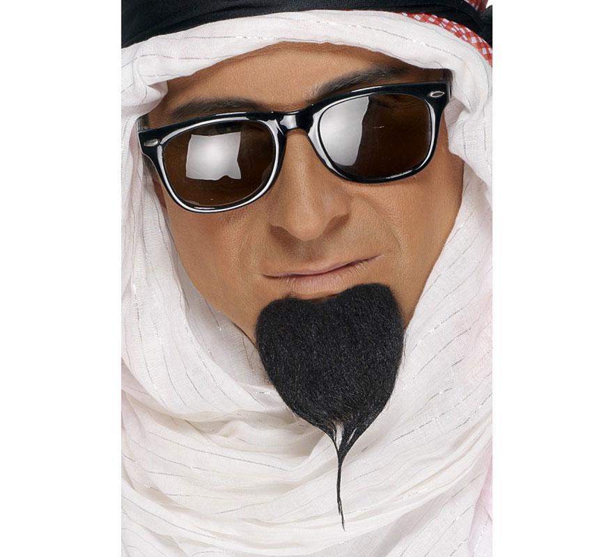 Barba de Árabe color Negro. Complemento ideal para disfraces musulmanes, moros, jeques...
