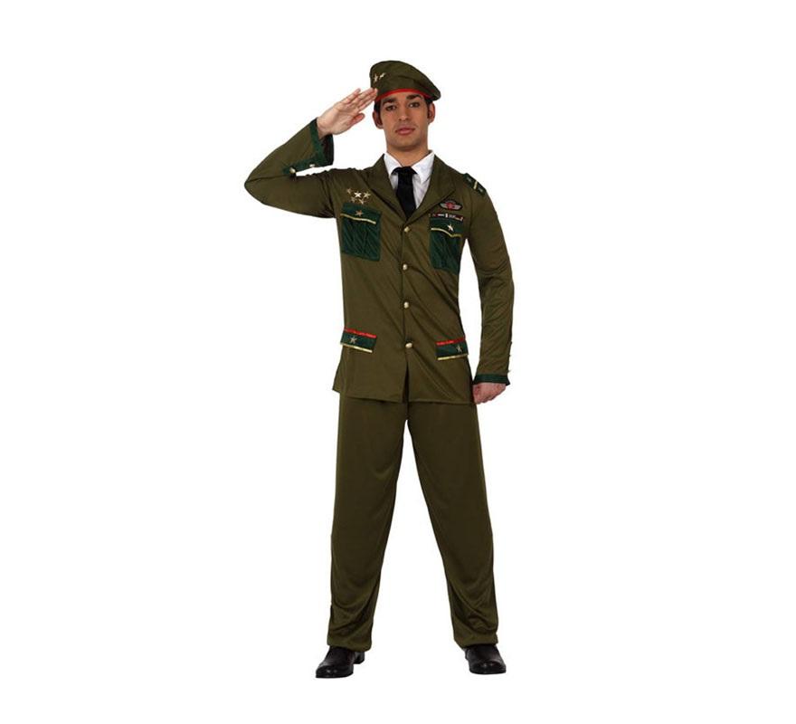 Disfraz de Militar para hombre. Talla M-L 52/54. Incluye disfraz completo. Perfecto para disfrazarse de General.