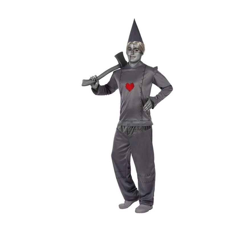 Disfraz Hombre de Hojalata con corazón. Talla 3 ó talla XL 54/58. Incluye pantalón, camisa y gorro. Original disfraz para convertirte en el fantástico personaje del Mago de Oz y vivir múltiples aventuras junto a Dorothy.