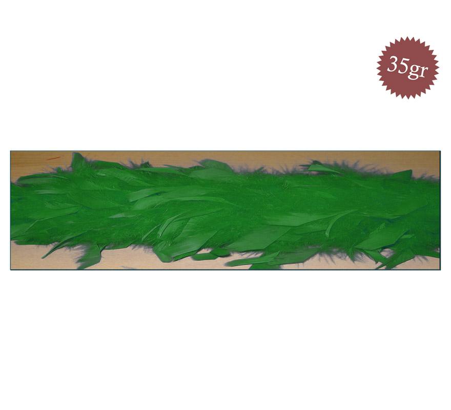 Boa de 35 gr. de color verde hierba de 150 cm.