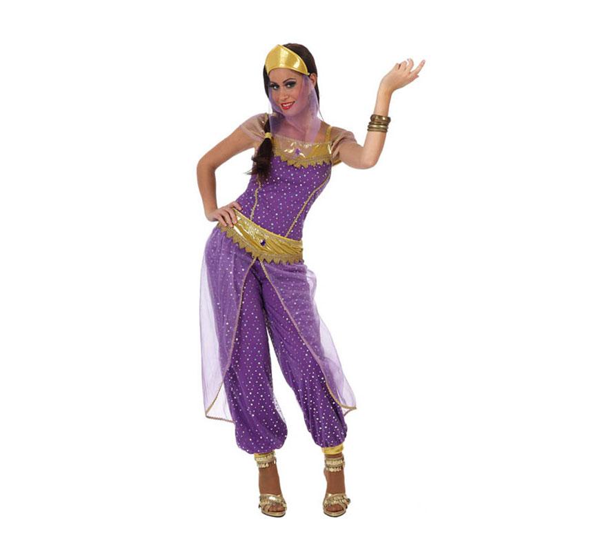 Disfraz de Chica Árabe para mujer. Talla 3 ó talla XL 44/48. Incluye disfraz completo SIN zapatos.