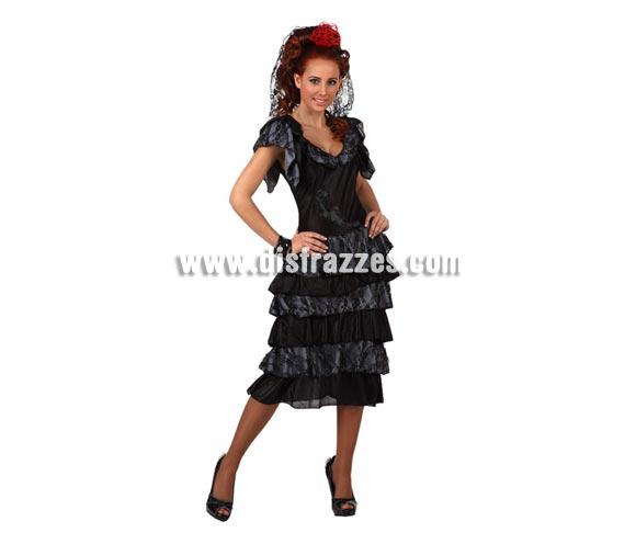 Disfraz de Manola para mujer. Talla Estándar M-L 38/42. Incluye vestido y tocado.