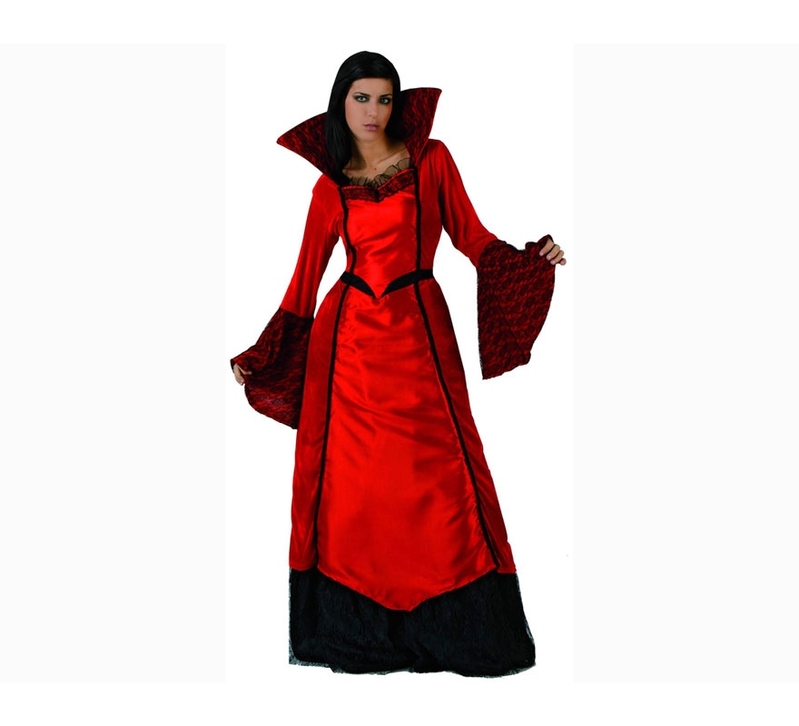 Disfraz de Vampiresa para mujeres. Talla XL 44/48. Incluye vestido.