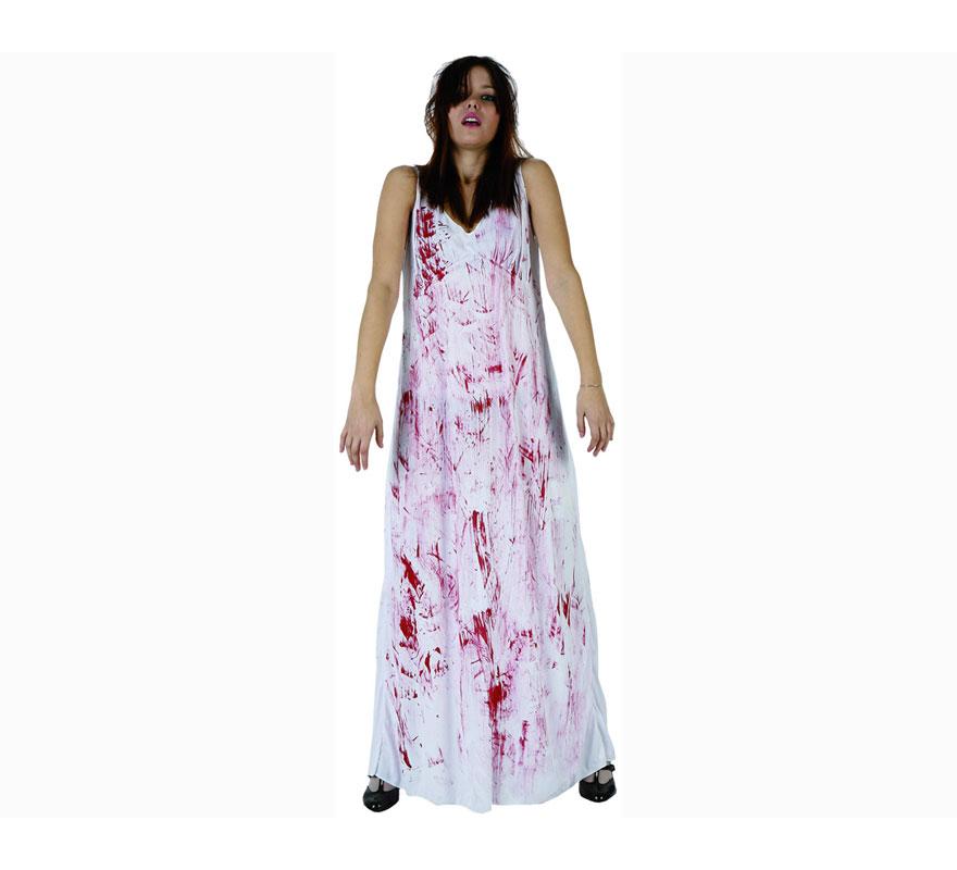 Disfraz de Niña del Exorcista sangrienta para mujer. Talla XL 44/48.  Incluye vestido.