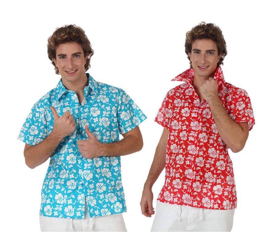 Camisa de Hawaiano para hombre. Talla 3 ó talla XL 54/58. El precio sólo incluye la camisa. Dos colores surtidos, precio por unidad. Perfecta para las Fiestas Hawaianas en Verano.