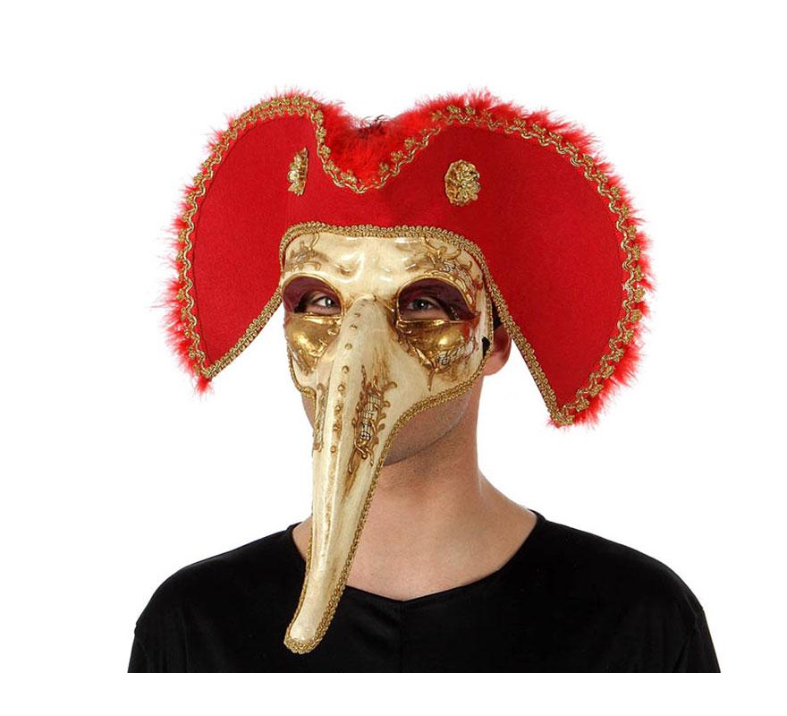 Máscara Veneciana de pico con sombrero Pirata