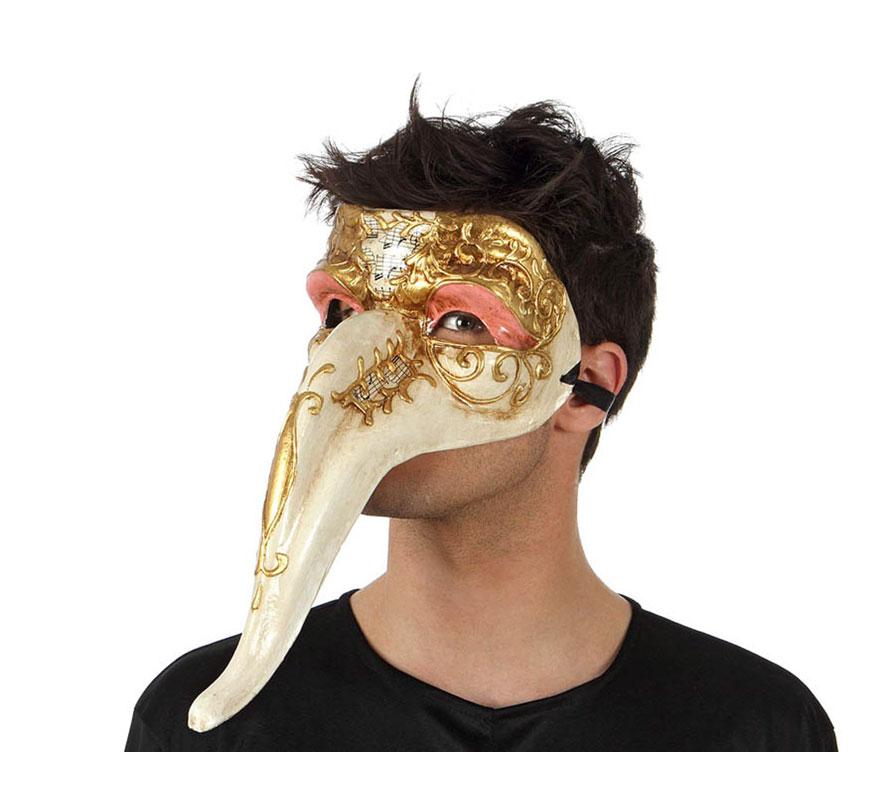 Máscara Veneciana con pico. Talla universal.