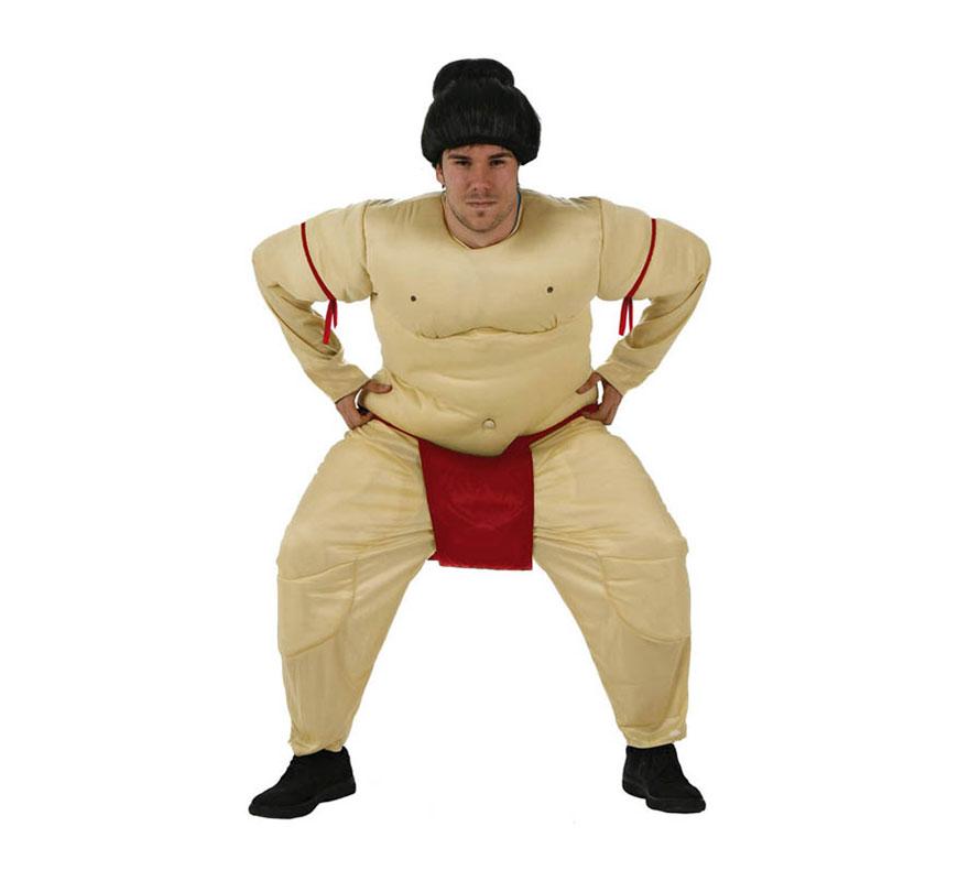 Disfraz de Luchador de Sumo para hombre. Talla XL 54/58. Incluye mono. Peluca NO incluida, podrás encontrar en nuestra sección de Complementos.