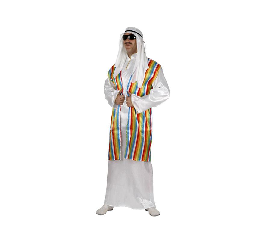 Disfraz de Jeque Árabe para hombre. Talla 3 ó talla XL 54/58. Incluye túnica y pañuelo de la cabeza.
