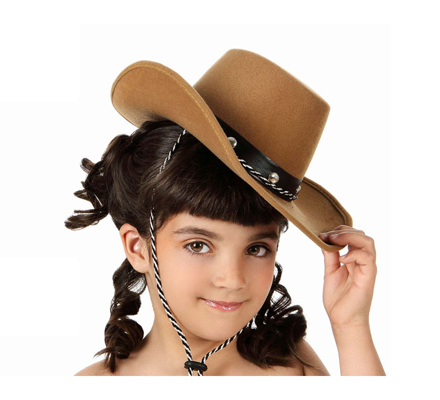 Sombrero marrón de Cowboy o de Vaquero infantil.