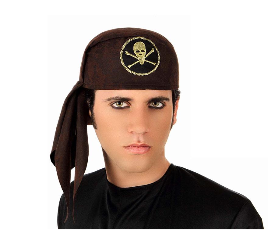 Sombrero o bandana de Pirata marrón 20 cm. de diámetro.