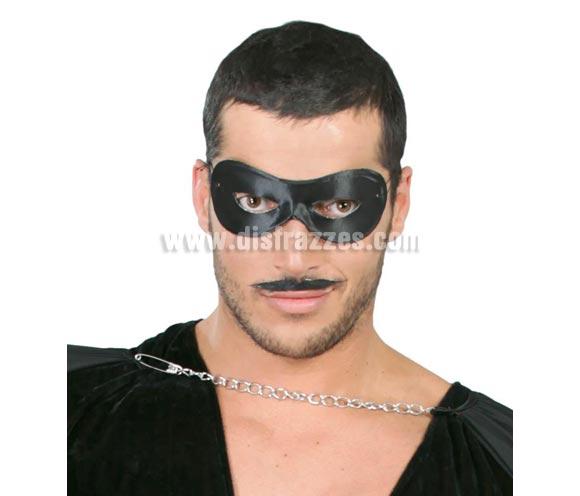 Antifaz de Pierrot negro. También sirve para el disfraz de El Zorro.
