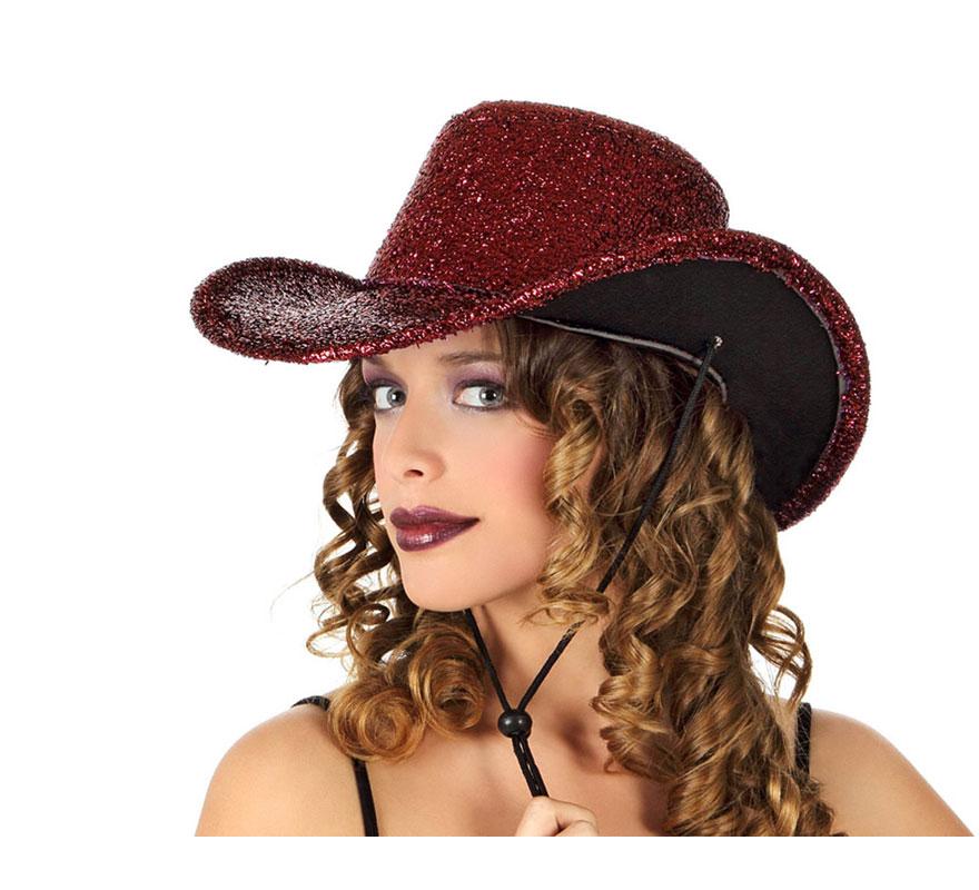 Sombrero de Cowboy o Vaquero rosa brillante