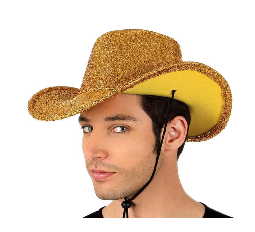 Sombrero de Cowboy o Vaquero amarillo brillante. Éste sombrero de Pistolero es perfecto para Despedidas de Soltero y Soltera.