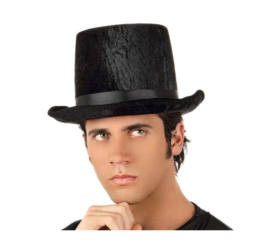 Sombrero o Chistera de Copa de Terciopelo negra.