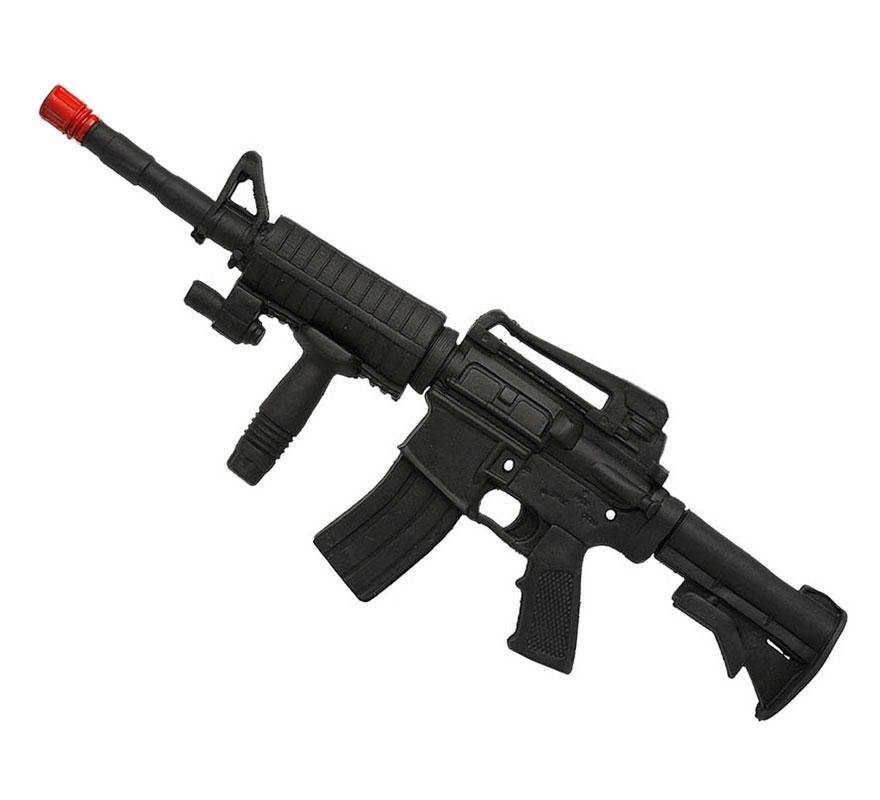 Metralleta militar de goma E.V.A de 57 cm. Ideal para los disfraces de Policía y de Militar.
