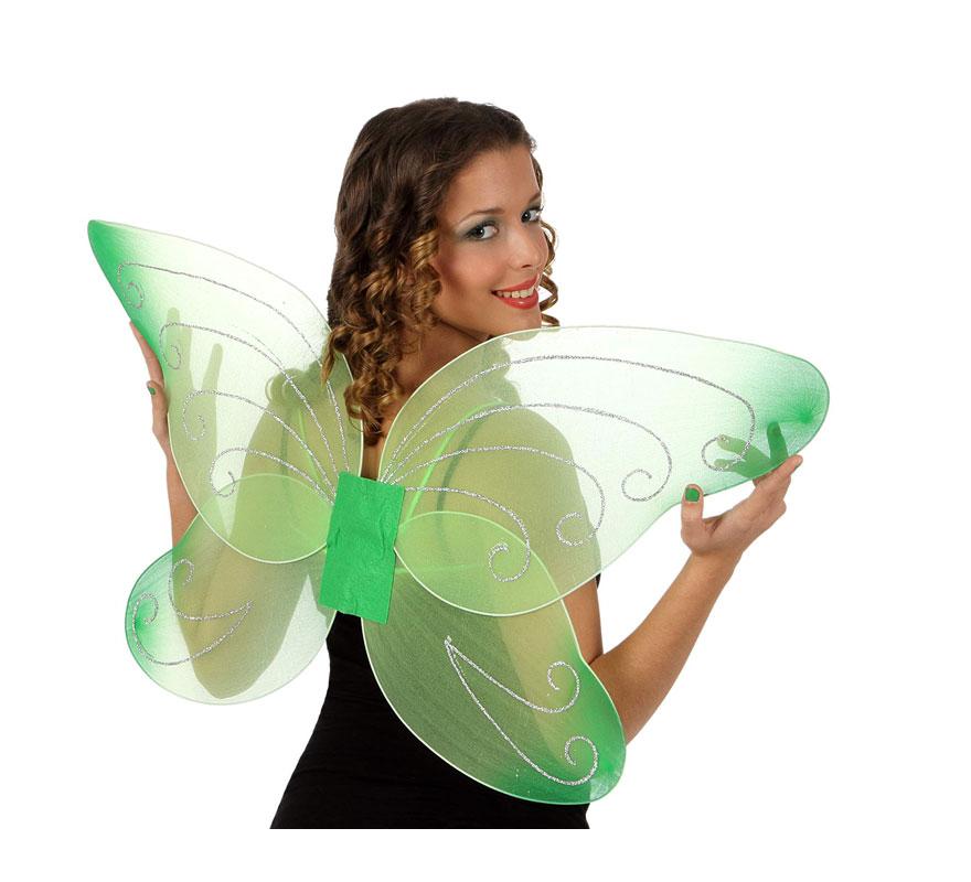 Alas de Mariposa o Hada verdes de 92 cm.