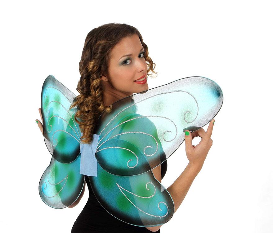 Alas de Mariposa verdes de 92 cm.