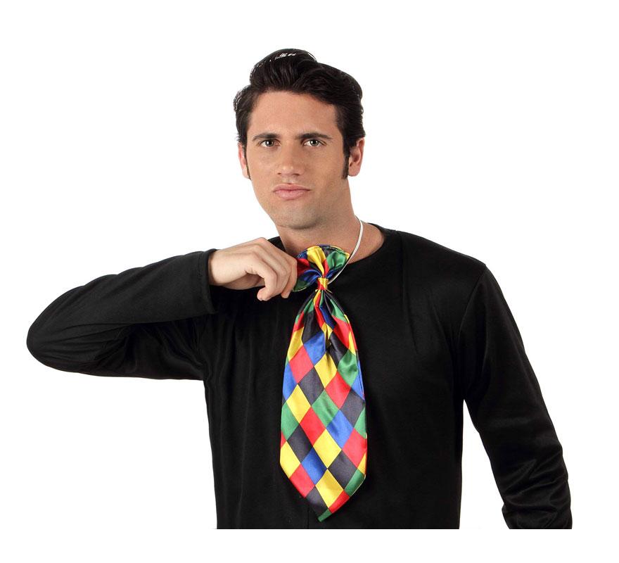 Corbata de Payaso a rombos de colores.