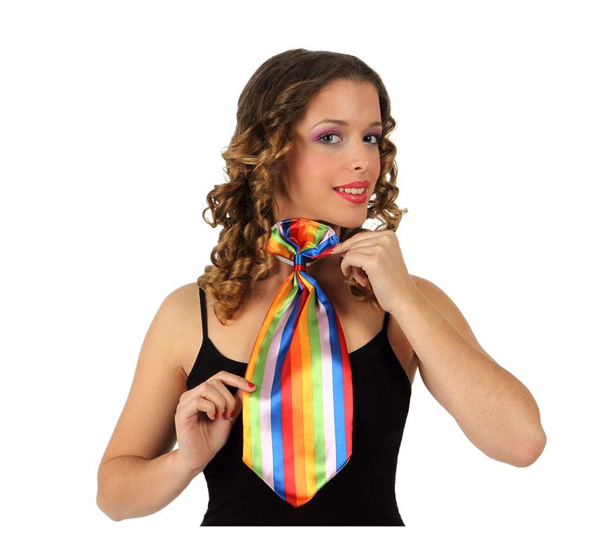 Corbata de Payaso a rayas de colores.