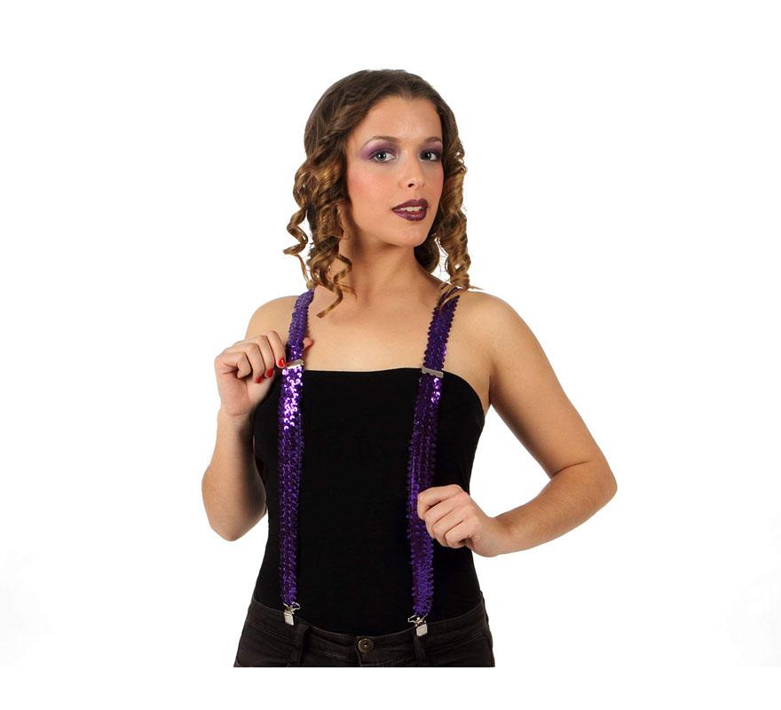 Tirantes de Lentejuelas púrpura.