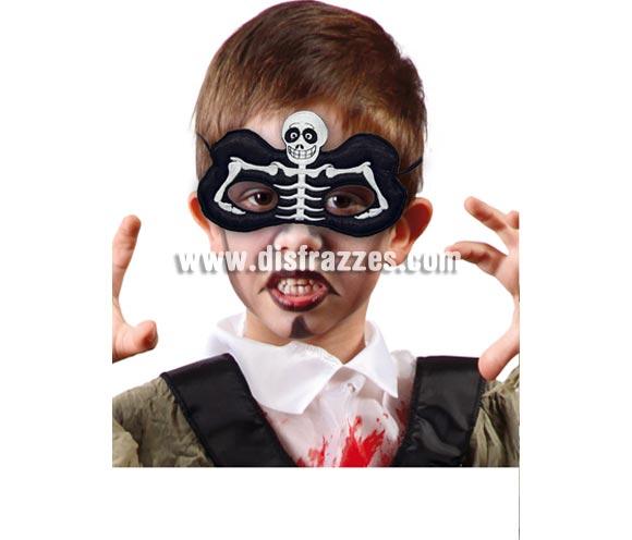 Antifaz Esqueleto infantil para Halloween.