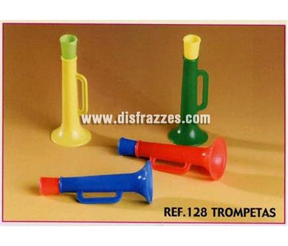 Bolsa de 25 uds. Trompetas para Carrozas. Colores surtidos. También sirve como relleno de Piñatas para los Cumpleaños.
