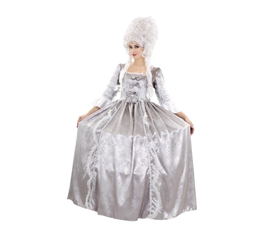 Disfraz de María Teresa de Austria para mujer. Talla standar M-L = 38/42. Incluye vestido y cancán. Peluca NO incluida, podrás encontrar pelucas en la sección de Complementos. Ideal para disfrazarse de Época.