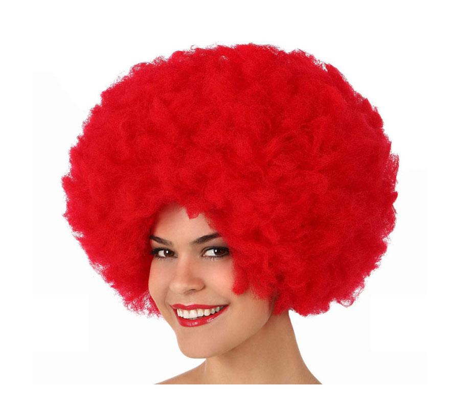 Peluca Afro de Hippie roja de 40 cm.