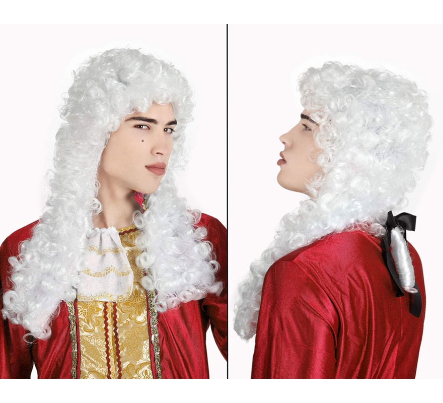 Peluca blanca de Noble de Época. También sirve para el disfraz de Juez.