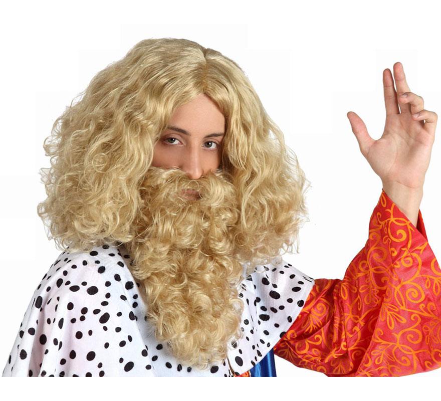 Peluca y Barba rubia de Rey Mago Melchor