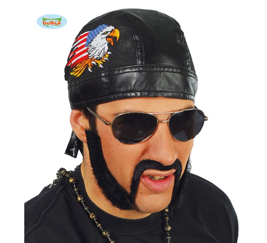 Pañuelo Motero o Motorista negro. También sirve como pañuelo de Heavy y Rockero.